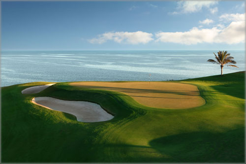 Great view of the sea from the Meloneras golf course