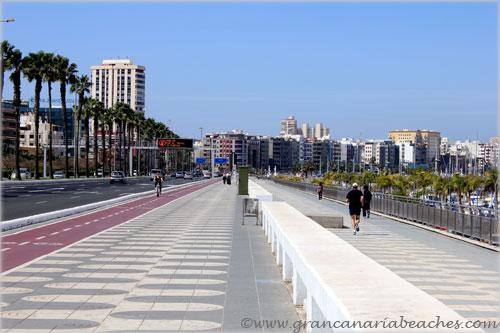 Avenida Maritima promenade in Gran Canaria